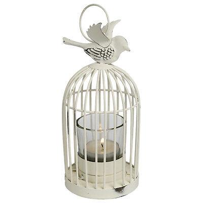 dotcomgiftshop VINTAGE SMALL BIRD CAGE LANTERN.  WHITE TEA LIGHT CANDLE HOLDER
