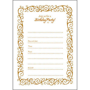 20 50th Birthday Party Invitations Fill Ins Bpfi 010 Decorative