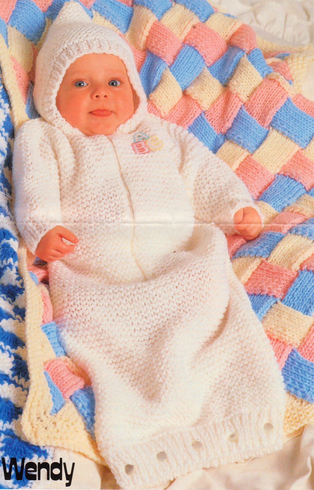 Chunky Wool Entrelac Baby Blanket Amp Sleeping Bag 16 18