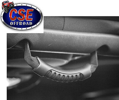 13305.14 Rugged Ridge Black Rear Side Grab Handle set Jeep Wrangler JK 2007-2014