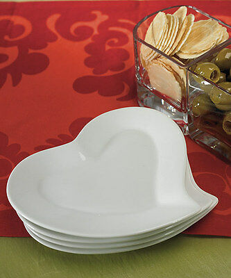 Wedding Reception /Bridal Shower Heart Shaped Buffet Style Dinner Ceramic Plates