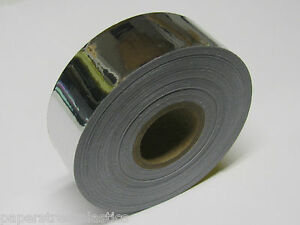 Silver-Chrome-Vinyl-Tape-3-4-wide-x-50-feet-Free-S-H