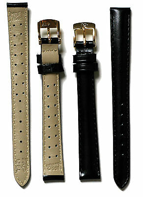 Watch Band, Calf Leather, AeroComfort Strap, Silver or Gold Buckle