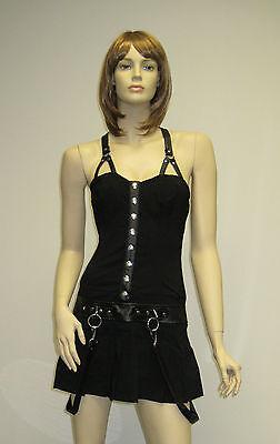 Lip Service Solid Plain Black Mini Dress Punk Rock Gothic Sexy Pick XS S M L XXL