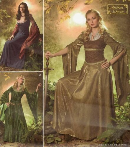 Simplicity 4940 SEWING PATTERN 10-18 Medieval/SCA Costume LOTR Arwen/Eowyn Dress