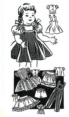 "MAIL ORDER 18"" CHATTY CATHY DOLL CLOTHES PATTERN 452"