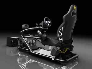 VESARO-MOTION-R-BLACK-Driving-Simulator-w-Thrustmaster-Logitech-Buttkicker