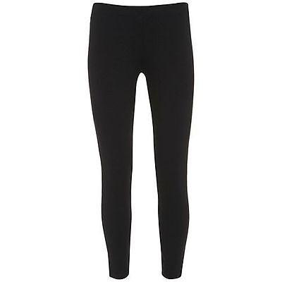Donna Lunghezza Intera Stretch Taglie Forti Cotone Leggings Colore Nero Tg (20-24)-