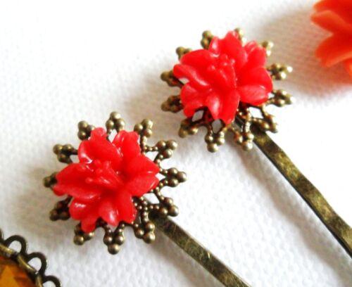 Bobby Pins Hair Grips Clips Slides Vintage Accessories Flower Girls Bridesmaids