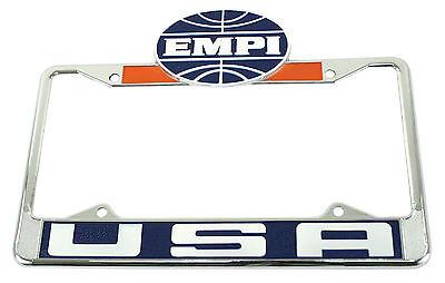 Vintage Style Empi License Plate Frame VW Bug VW Beetle VW Baja Bug Front 6461