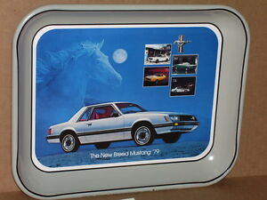 Old-MUSTANG-Sign-Tray-DATED-1978-Made-In-USA-Tells-the-15-HISTORY-of-MUSTANG