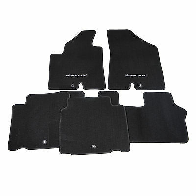 NEW BLACK 5 PIECE FLOOR MAT SET U8140-3J000-WK FITS 2007-08 HYUNDAI VERACRUZ