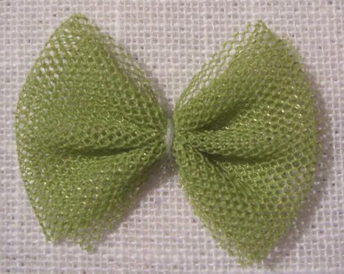 LOT 5 ou 8  Appliques NOEUDS Papillon en ruban TULLE 35mm couture scrapbooking