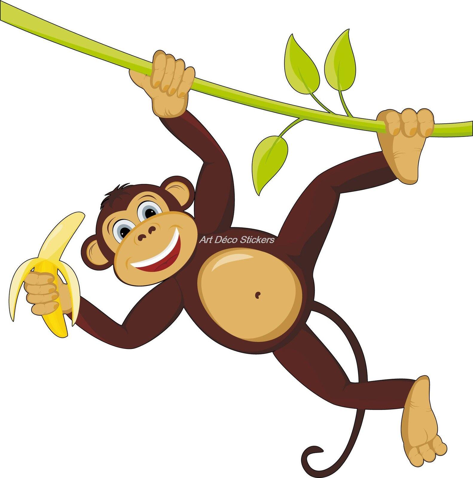 Aufkleber Kind Affe Ref 906 (Abmessungen der 10 cm bis 130 cm Breite)