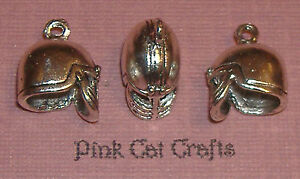 5-HELMET-GLADIATOR-CENTURION-Tibetan-Silver-3D-Charms-Pendants-Beads