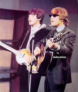 Beatles-Rare-Music-Art-Poster-John-Lennon-amp-Paul-McCartney-Hofner-Bass-Guitar