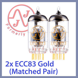 Details about 2x NEW JJ Tesla 12AX7 ECC83 ECC83S Gold Pin Vacuum Tube,  Matched Pair TESTED