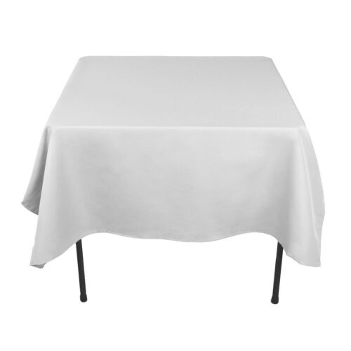 """40 Pack 54/"""" x 54/"""" Square Tablecloths 23 Colors 100/% Fine Polyester Wedding"""