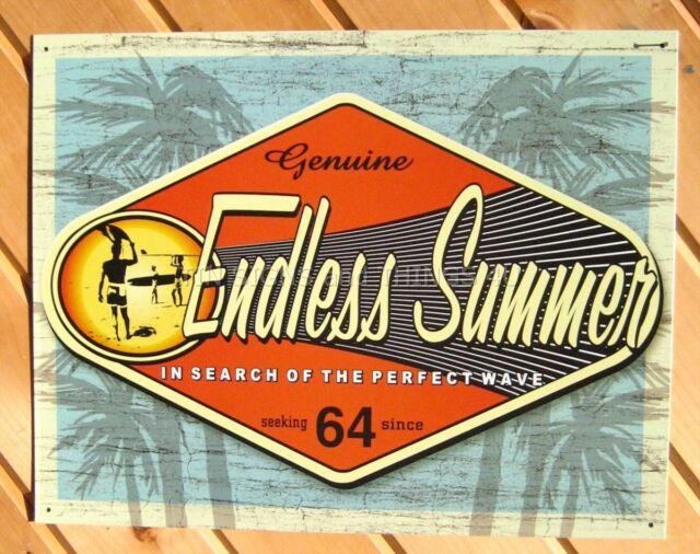 Endless Summer Perfect Wave TIN SIGN surf beach vtg metal bar wall decor ad 1138
