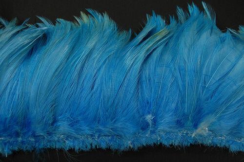 "2 Yards HACKLE FRINGE - SKY BLUE 4-6"" Feathers Trim/Craft/Costume/Halloween"
