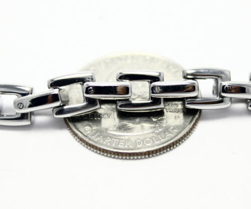 Stainless Steel Box Chain Mens Necklace 24 Inches 7.3mm Link Fashion Jewelry