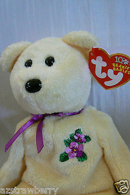 TY Beanie Baby MOTHER Bear 10 yrs 2002 mint  NWT Retired