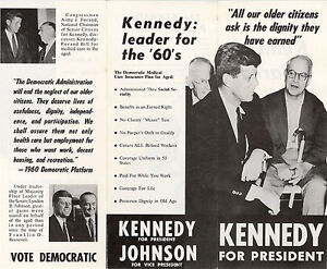 1960 John F. Kennedy SENIOR CITIZENS Campaign Brochure (1498) | eBay