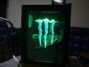 Mini Kühlschrank Monster : Monster energy mini kühlschrank g mit led tür licht ebay