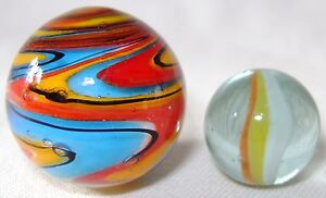 NEW-SINGLE-HANDMADE-25mm-FIGARO-MARBLE-TRADITIONAL-GAME-or-COLLECTORS-ITEM-HOM