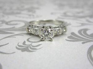 estate platinum engagement ring 1 07 ct