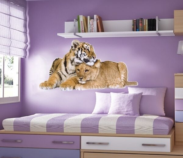 WALL STICKERS Cat TIGER tigers Wild Animal CATS Vinyl Decal Mural Art Sticker