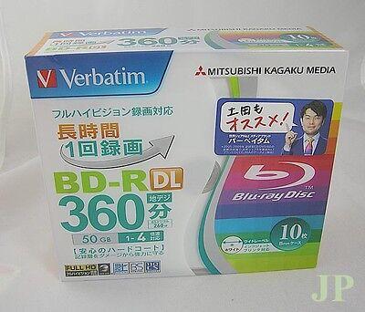 10 Verbatim Blank Blu-ray Discs 50GB BD-R DL 4x bluray Japan