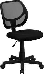 NEW! ARMLESS BLACK MESH BACK ERGONOMIC HOME OFFICE TASK DESK DORM ROOM CHAIRS