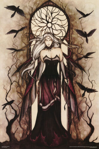 POSTER :FANTASY : DARK QUEEN BY JESSICA GALBRETH - FREE SHIPPING !  #3474 LC14 D