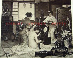 NAKED-NUDE-JAPANESE-WOMEN-BATHE-1886-Art-Print-RARE