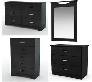 dresser and nightstand sets new 4pc modern black dresser chest nightstand amp mirror 15201