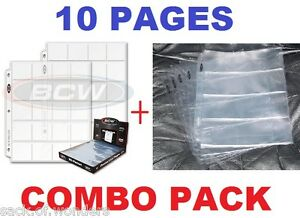 10-20-Pockets-2x2-Coins-4-Pockets-Currency-Holders-Inserts-Sleeves-Pages