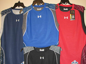 NWT-UNDER-ARMOUR-HG-COMBINE-NFL-WARP-SPEED-COMPRESSION-FOOTBALL-SHIRT-1228686