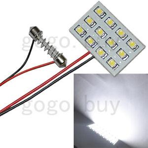 2pcs-New-White-12-SMD-LED-3528-Indicator-Door-Light-Bulb-Lamp-Panel-Dome-Adapter