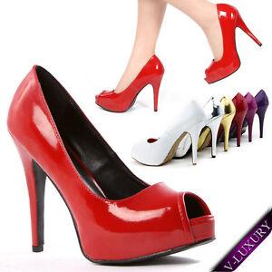 Bridal-Womens-Classic-High-Heel-Pump-Stiletto-Platform-Peep-Open-Toe-Party-Shoes