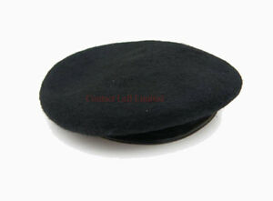 NEW-Black-Beret-100-Wool-Leather-Banded-All-sizes-British-Army-American-SAS