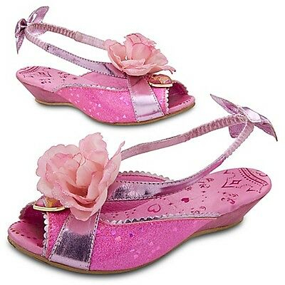 DISNEY STORE Girls Princess Aurora Sleeping Beauty Costume Shoes NEW size 2/3