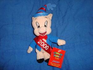 "Looney Tunes Year January Mini Beanbag Porky Pig 6"""