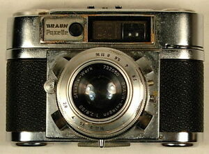 BRAUN PAXETTE GERMANY VINTAGE CAMERA 1:2,8/50 PRONTOR-SVS