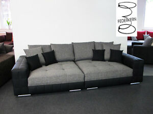 big sofa style mega xxl couch schlafsofa federkern made in germany ebay. Black Bedroom Furniture Sets. Home Design Ideas