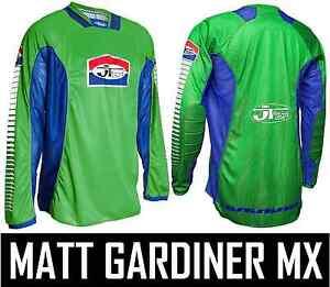 JT-RACING-ALS-pro-tour-MOTOCROSS-MX-jersey-shirt-vert-bleu-retro-EVO-classique