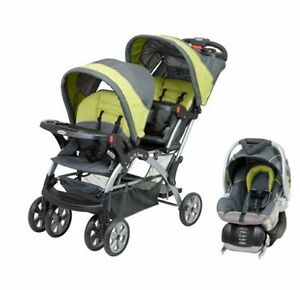Baby-Trend-Sit-N-Stand-Inline-Double-Baby-Stroller-amp-Car-Seat-Travel-System