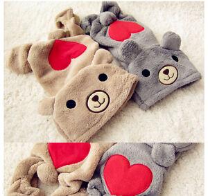 2-Colors-LOVE-U-RED-Heart-BEAR-Warm-Thick-Fleece-DOG-Clothes-JUMPSUIT-XS-S-M-L