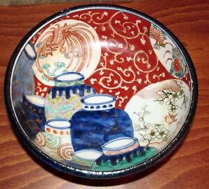 Antique-Japanese-Imari-Bowl-with-Rare-7-Jar-Decoration