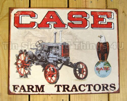 Case Tractor Posters : Vintage advertising reproduction metal tin sign poster